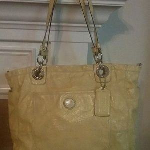 Coach Stitched C Patent Leather Diaper Bag